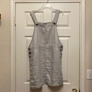 JJill Linen Overall Jumper Dress